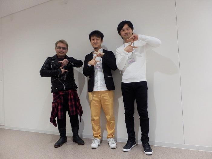 左:原田円さん 中:大川祥吾監督 右:前川茂暉さん