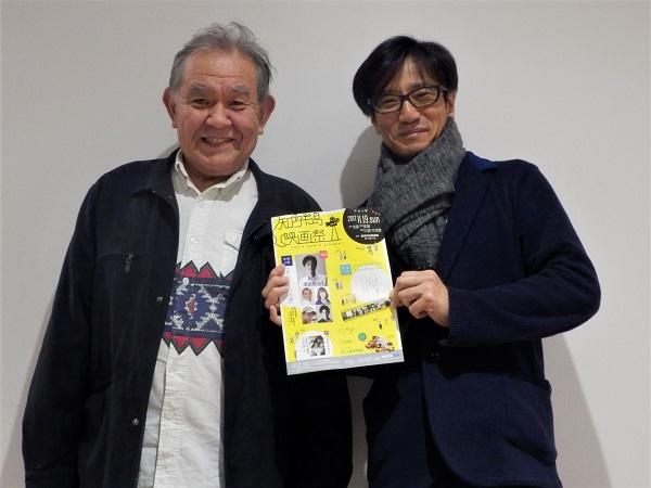 トーク終了後のショット 左:渡辺哲さん 右:津田寛治監督