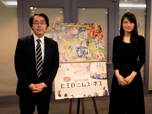 左:後藤岐阜新聞東京支社長 右:松岡未紗さん
