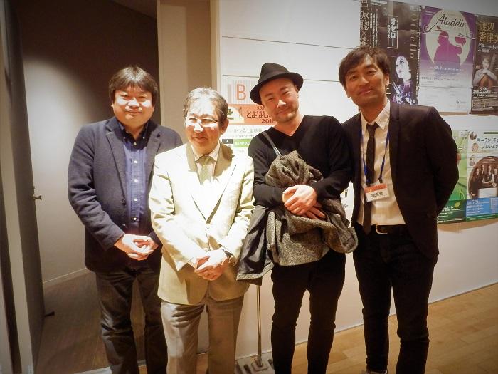 左から 本広克行監督、杉田成道監督、カンファレンスを聞きに来ていた内田英治監督、森谷雄プロデューサー