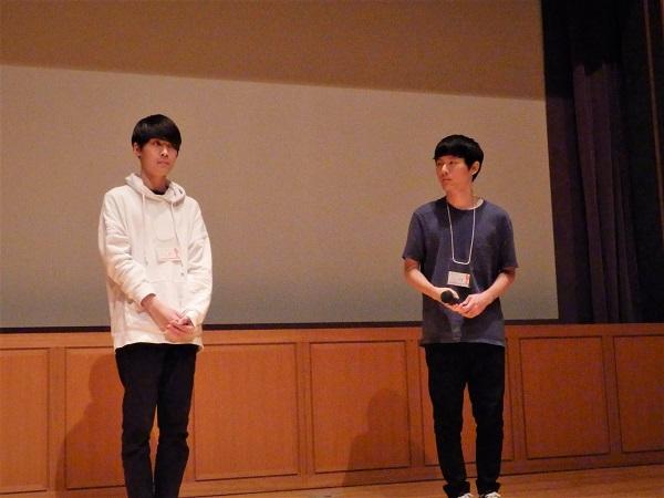 (左)鈴江誉志監督 (右)山川智輝監督