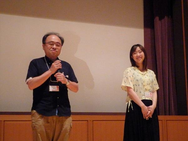 (左)繁田健治監督 (右)津田菜津美さん