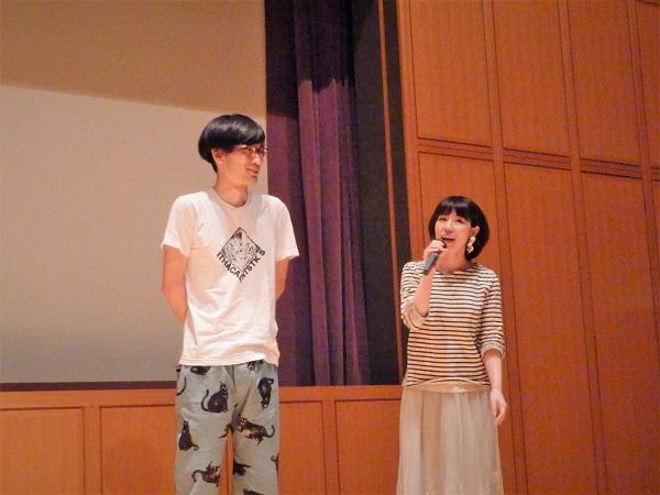(左)佃光監督 (右)篠崎雅美さん