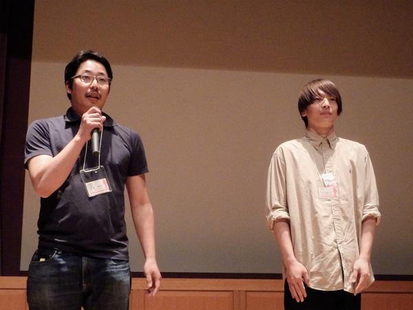 (左)名倉健郎監督 (右)森山龍之介さん